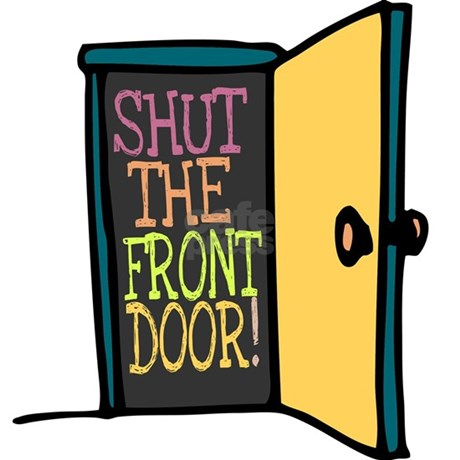 Shut The Front Door Round Ornament By Admin Cp142414