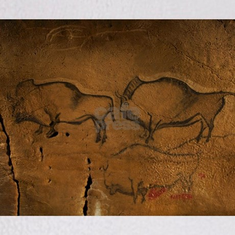 Stone Age Cave Paintings Asturias Throw Blanket By Admin