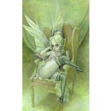 Green fairy Wall Decals