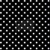 Black white polka dot Polos