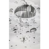 82nd airborne paratrooper Wall Decals