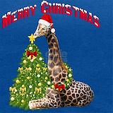 Giraffe christmas Tank Tops