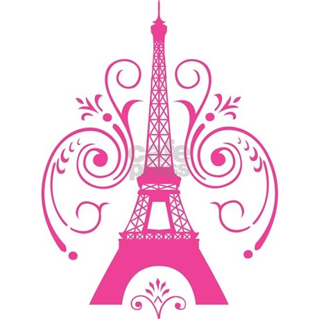 Pink Paris Eiffel Tower Swirl 3x5 Area Rug By TaraAshDesigns