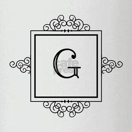 Fancy letter G monogram Drinking Glass by Admin_CP49789583