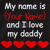 I love my daddy Baby Bodysuits