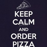 Men keep calm and order pizza Aprons
