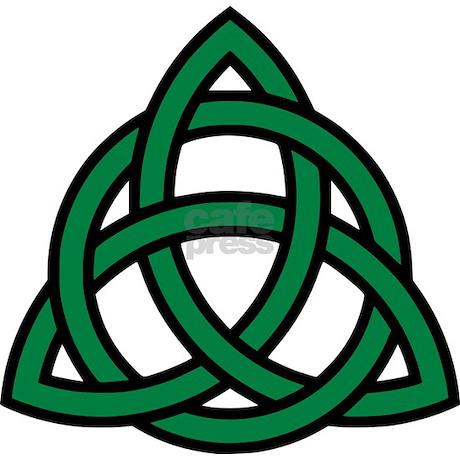 Green Celtic knot Rectangle Car Magnet by Shirtsalon