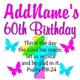 60th birthday religious Aprons