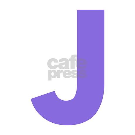 Letter J Purple Queen Duvet by lettersandnames