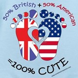 British american Baby Bodysuits