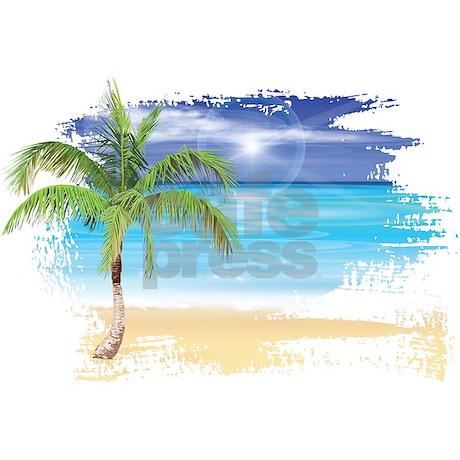 Beach Scene Shower Curtain by UnderTheSea2