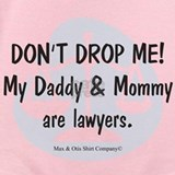 My mommy and daddy is a lawyer Baby Bodysuits