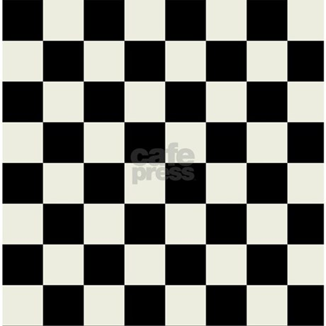 Black and White Checkered Shower Curtain by CrazyShowerCurtains