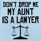 My aunt is a lawyer Baby Bodysuits