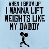 Weight lifting Baby Bodysuits