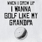 Golf when i grow up Bib