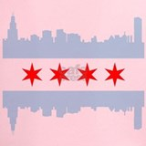 Chicago flag Performance Dry T-Shirts