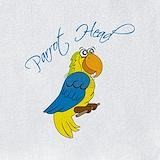 Yellow head parrot Bib