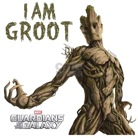 I Am Groot Back Design