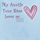 Auntie loves me Baby Bodysuits