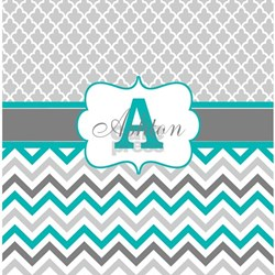 Teal And Gray Shower Curtains
