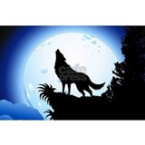 Wolf howling Wall Decals