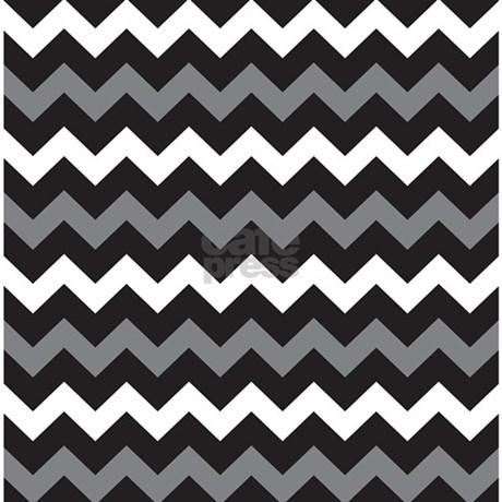 Black Gray And White Chevron Shower Curtain By BeautifulBed