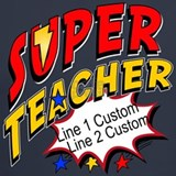 Superhero teacher T-shirts