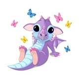 Baby dragon Wall Decals