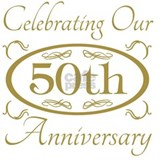 50th wedding anniversary T-shirts