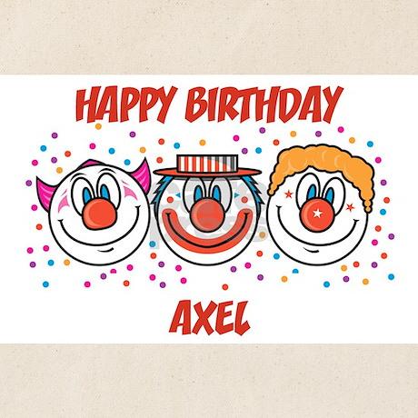 Happy Birthday AXEL (clowns) Tote Bag by birthdaydesigns