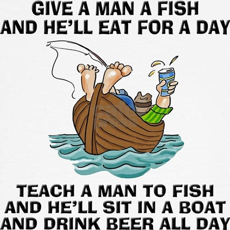 Teach a man to fish sweatshirt by homecooked for Teach a man to fish