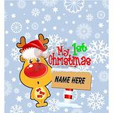 1st christmas Bib
