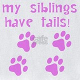 Baby girl my siblings have tails Bib