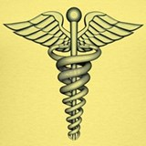 Medical symbol chrome Tank Tops