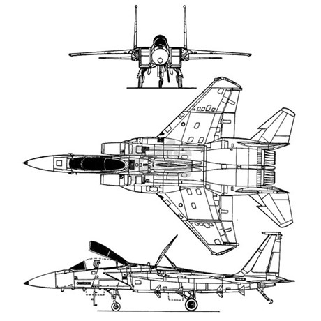 f-15 eagle schematic mousepad by defy_gravity, Schematic