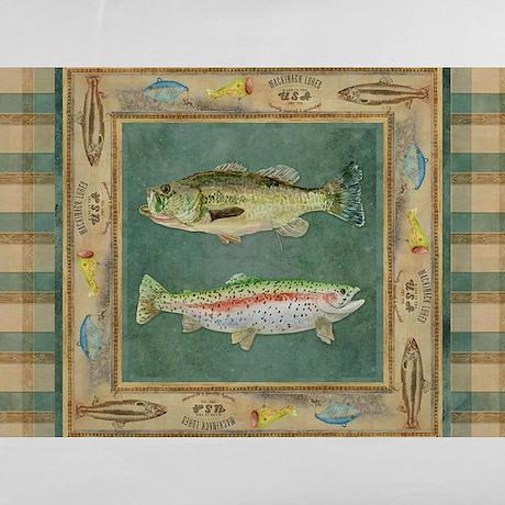 Fishing Cabin Lake Lodge Plaid Decor Pillow