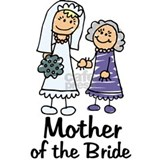 Cartoon mother of the bride Aprons