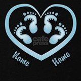 Baby boy twin footprints with name Maternity