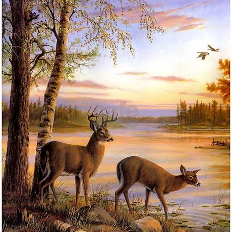 Deer Scene Shower Curtain. Deer Scene Shower Curtain