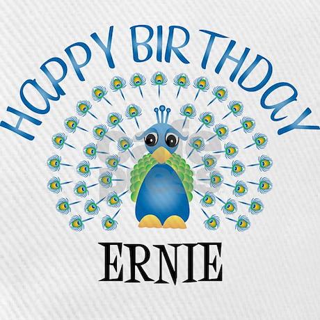 Happy Birthday ERNIE (peacock Cap by birthdaydesigns
