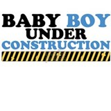Baby boy under construction Maternity