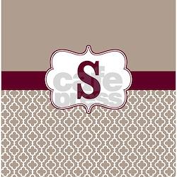Beige Burgundy Shower Curtains