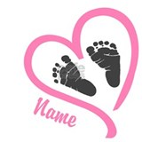 Baby heart pink personalized Maternity