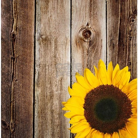 Rustic Barn Wood Sunflower Shower CurtaincolorWhite