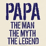 Papa the man the myth the legend T-shirts