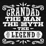 Grandad the man the myth the legend T-shirts