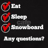 Eat sleep snowboard T-shirts