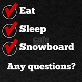 Eat sleep snowboard T-shirts