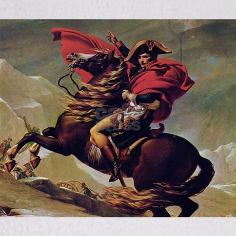 Napoleon on horse painting throw blanket by wickeddesigns4 for Napoleon horse painting